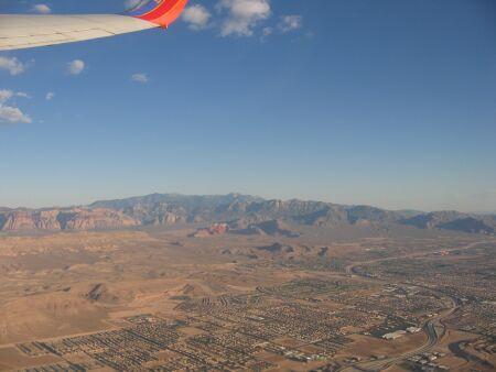 Vegas vu du ciel